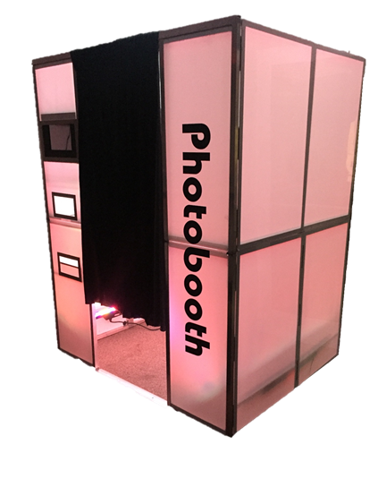 photo booth, photobooth, enclosed photo booth, photo booth rental